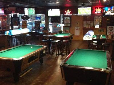 Pool tables at Kiwi's Pub & Grill in Altamonte Springs, FL
